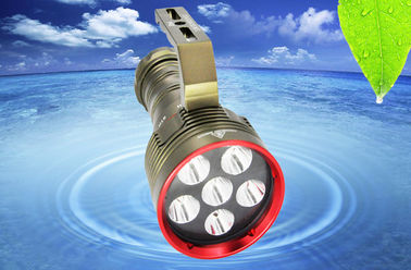 Lampu menyelam bawah air yang tahan air Underwater 100M Portable Diving Torch